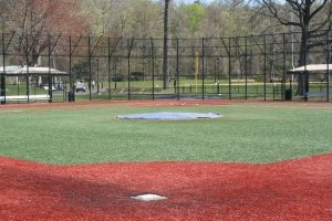 An inside view of Flowers Park field in New Rochelle, NY