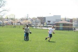 Kids having fun at Flowers Park Field